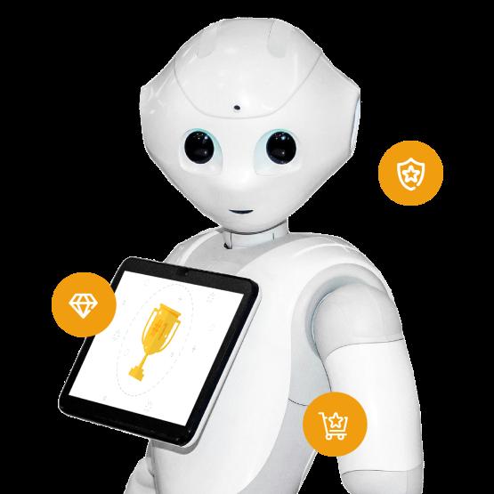 Badgeminton gamification e Pepper Robot