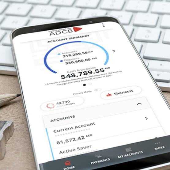 La nuova banking experience di ADCB
